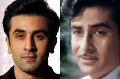 Ranbir Kapoor and Raj Kapoor