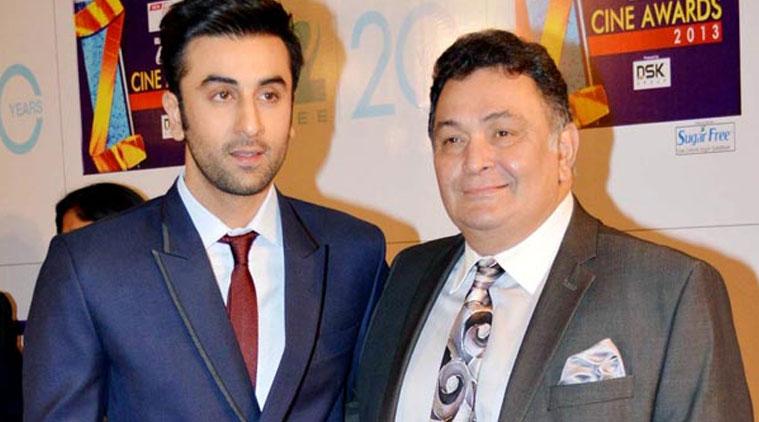 Ranbir Kapoor with Rishi Kapoor