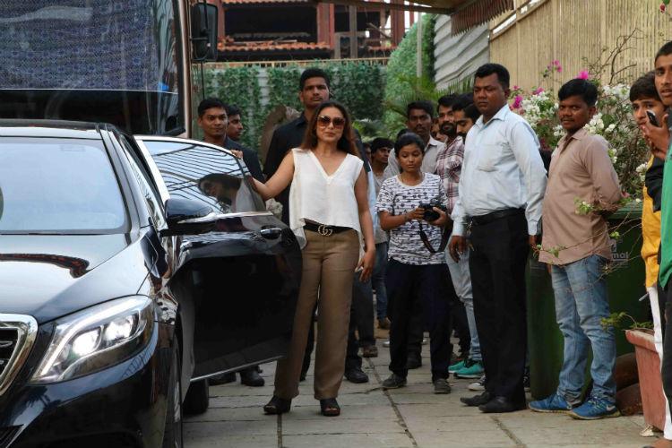 Rani Mukerji at hichki shooting