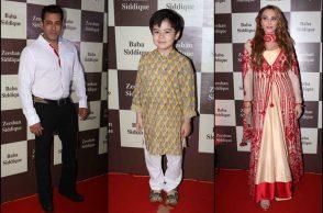 Salman Khan, Matin Rey Tangu, Lulia Vantur at Baba Siddique's Iftar party