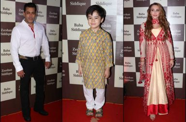 Salman Khan, Matin Rey Tangu, Lulia Vantur at Baba Siddique's Iftar party