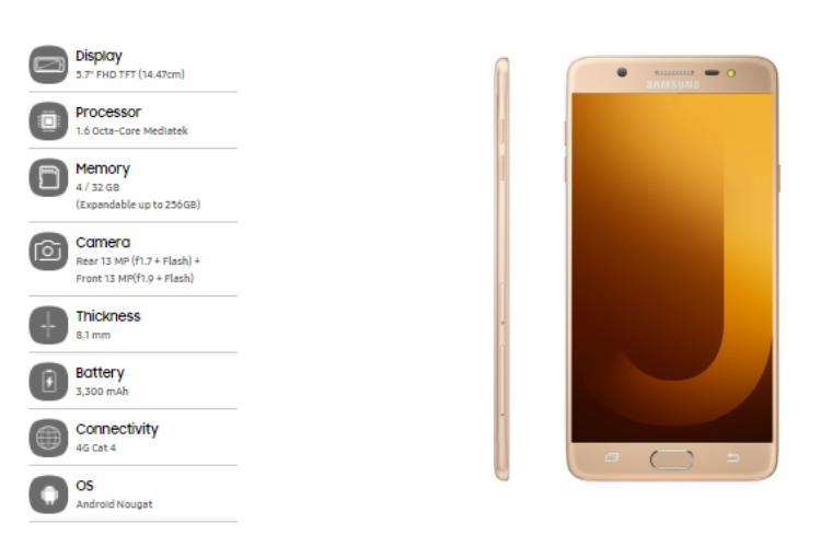 Galaxy J7 Max, Samsung