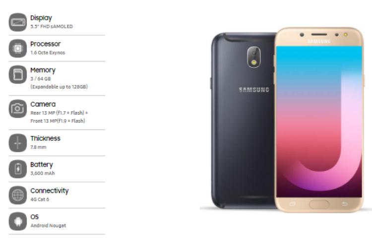 Galaxy J7 Pro, samsung