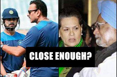 Ravi Shastri, Manmohan Singh, India's Head Coach, Virat Kohli, Sonia Gandhi