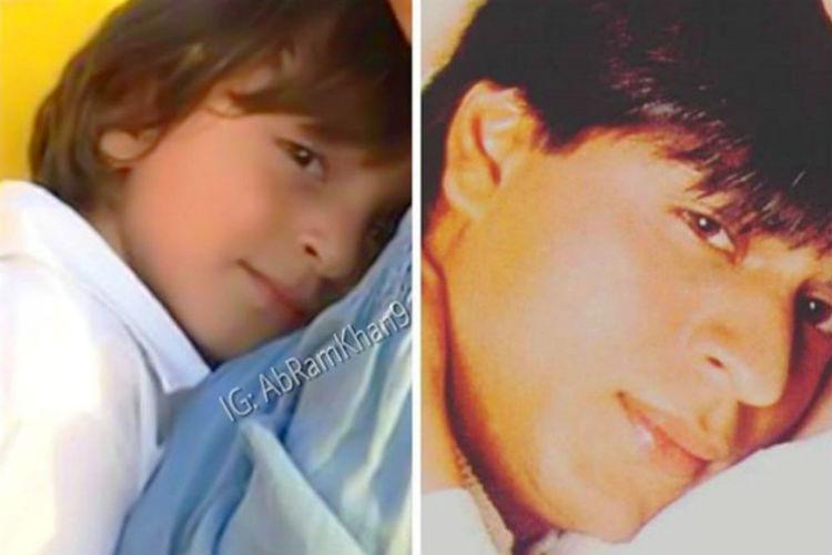 Shah Rukh Khan posts adorable pic with Abram Khan