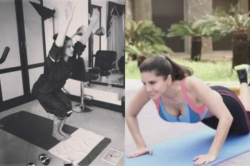 Sunny Leone's latest Yoga asana is strictly not to try at home — Watch video