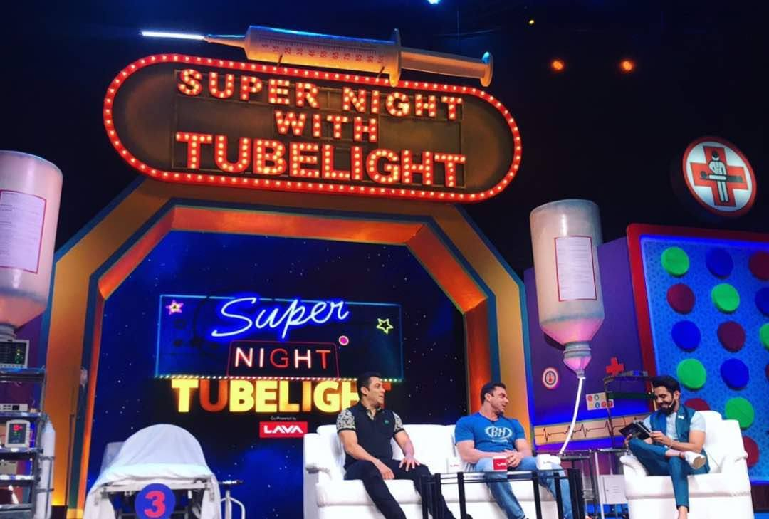 Suni Grover and Salman Khan on Super Night with Tubelight