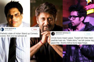 Tanmay Bhat, Abhishek Upmanyu, Vivek Agnihotri