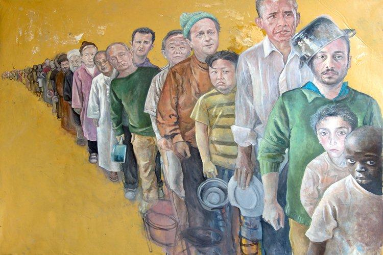 The The Queue by Abdalla Al Omari (Courtesy: Ayyam Gallery)