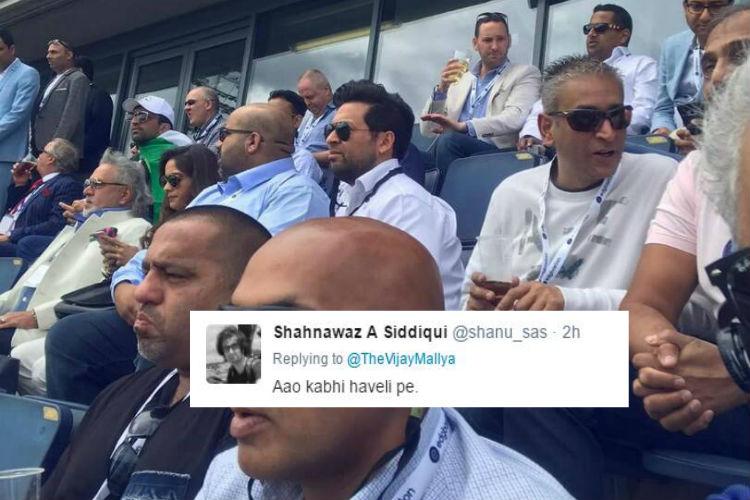 Vijay Mallya at India vs Pakistan match