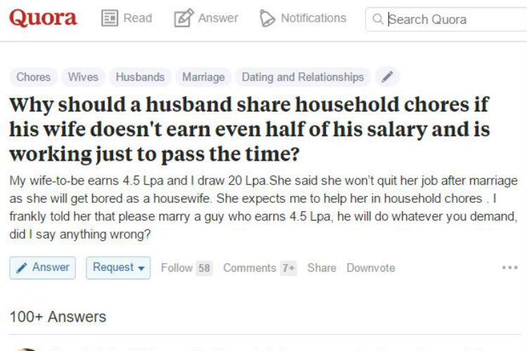 Wife, Household Chores, Husband, Quora