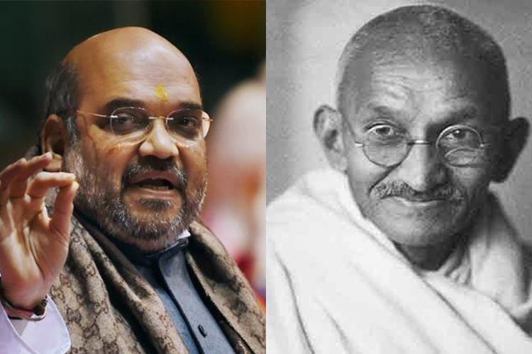 Amit Shah calls Mahatma Gandhi 'chatur baniya', Congress demands apology