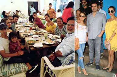 Malika Arora and Arbaaz Khan family lunch photo