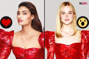 Athiya Shetty and Elle Fanning in Rodarte ensemble