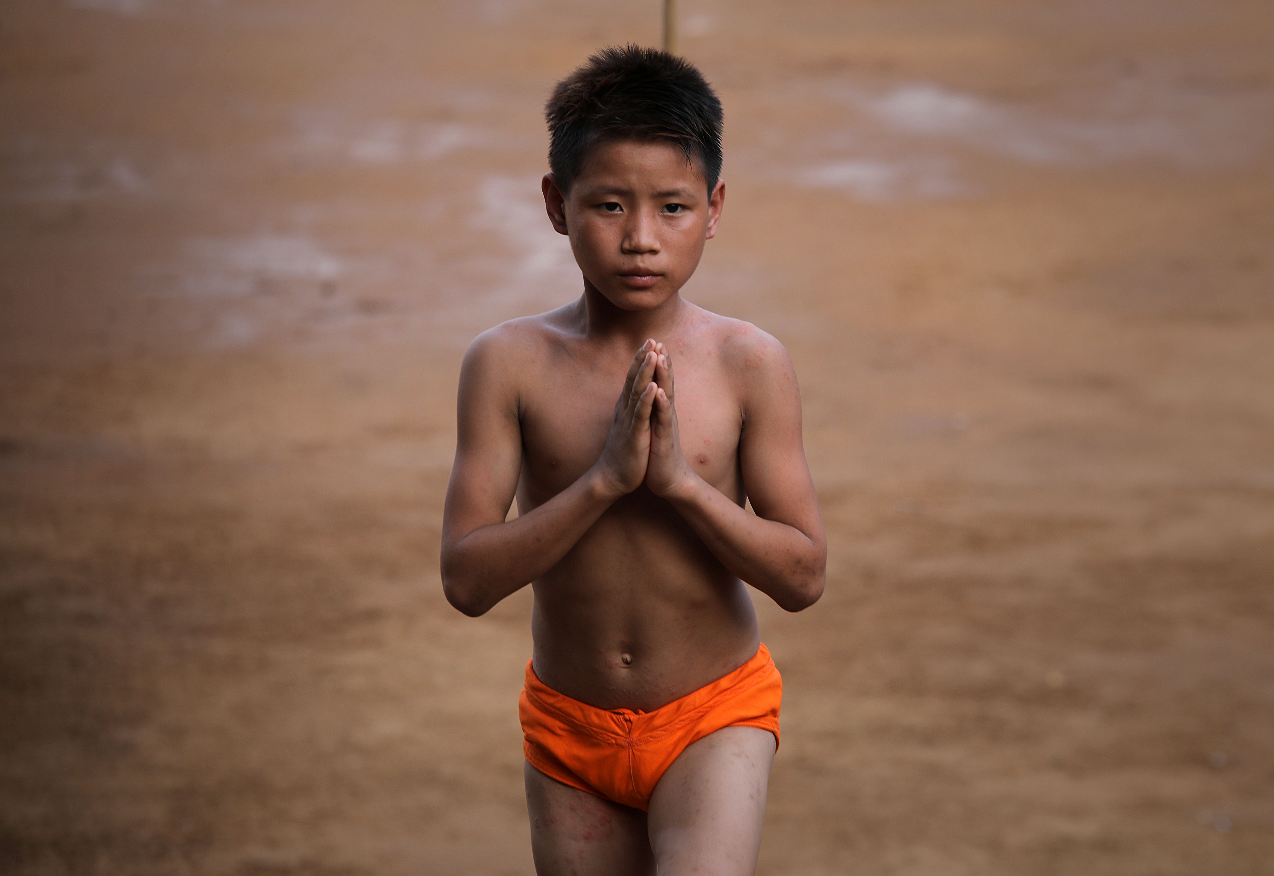 Children from Arunachal Pradesh practising Malkhamb