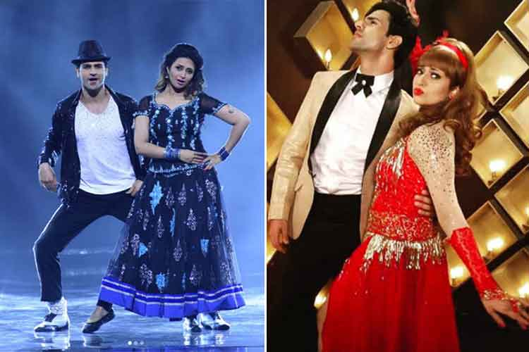 Divyanka Tripathi and Vivek Dahiya in Nach Baliye 8