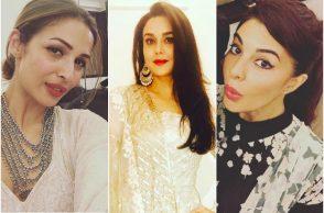 Preity Zinta, Malaika Arora and Jacqueline Fernandez at Salman Khan's Eid party