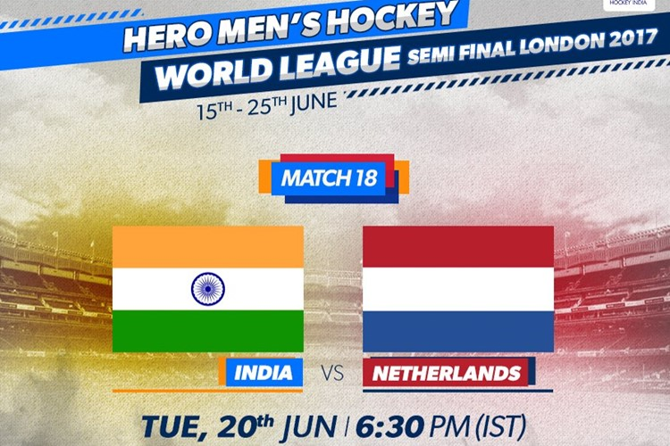 India vs Netherlands, World Hockey League semi-final