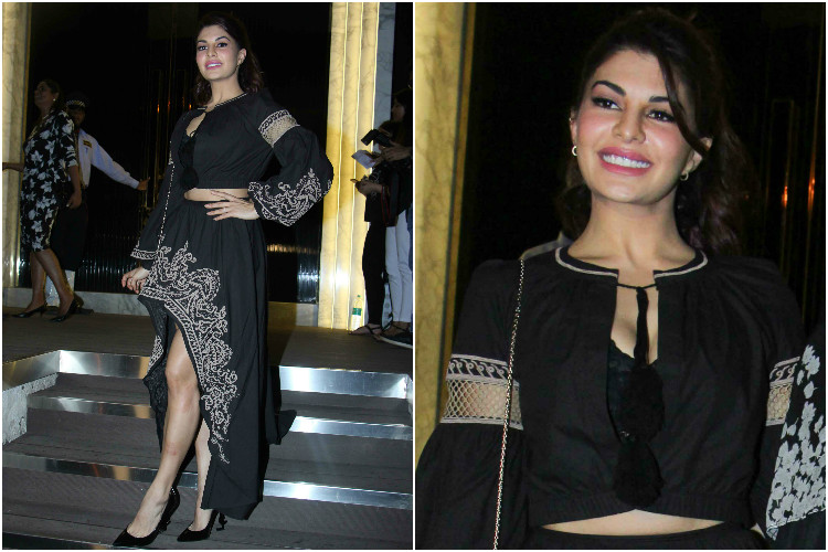 Jacqueline Fernandez at the opening of Arth restaurant in Mumbai