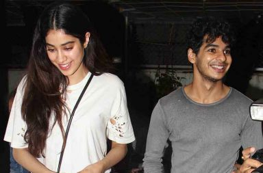 Jhanvi Kapoor and Ishaan Khattar spotted on a movie date photo