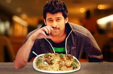 Prabhas eating briyani on Baahubali 2 diet cheat days