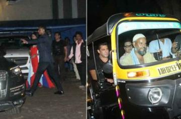 Salman Khan auto ride photo