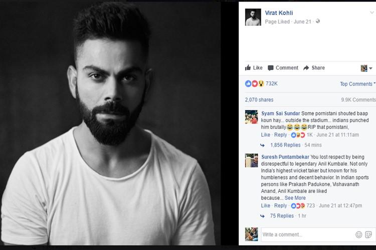 Virat-Kohli, Facebook India