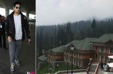 Sidharth Malhotra lands in Kashmir for Aiyaari photos