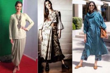 Sonam Kapoor's undying love for fusion clothing