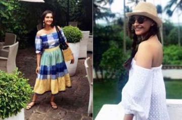 Sonam Kapoor on sri lanka vacation images