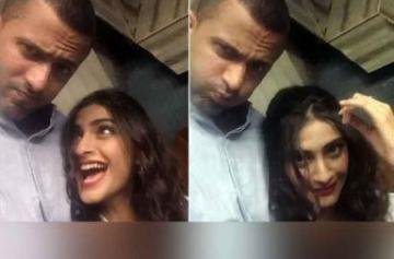 Sonam Kapoor with her rumored boyfriend photo