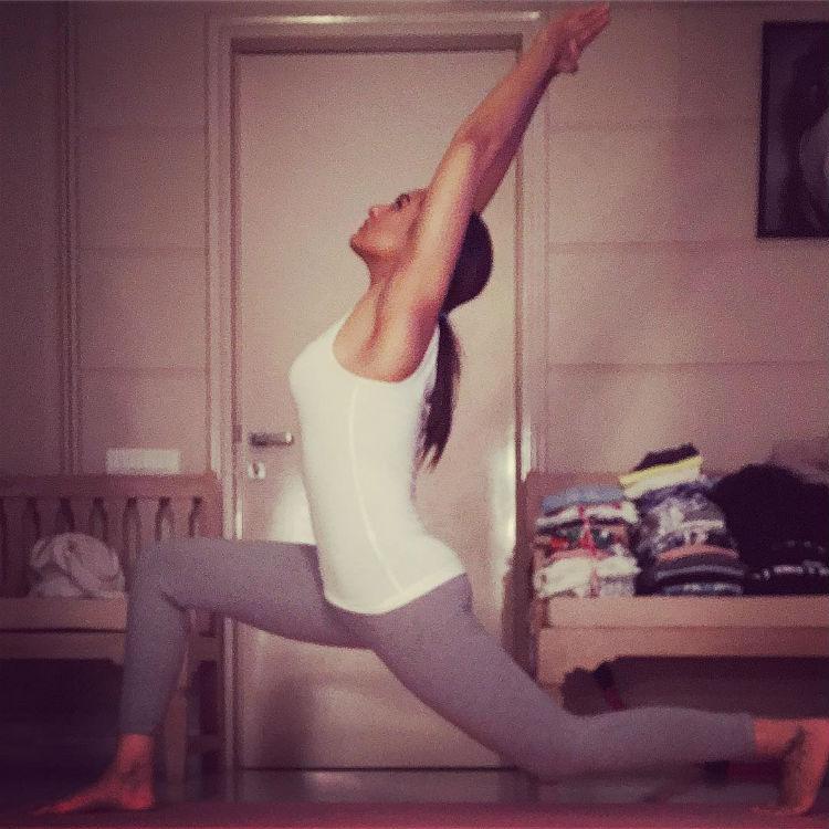 Sonakshi Sinha performing yoga