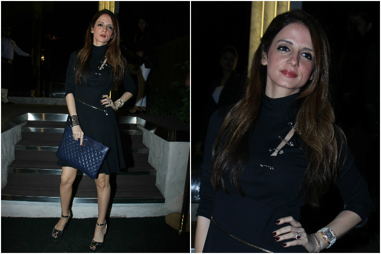 Sussanne Khan at the opening of Arth restaurant in Mumbai