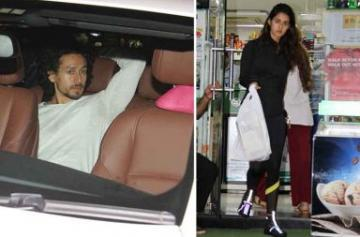 Tiger and Disha shopping photo