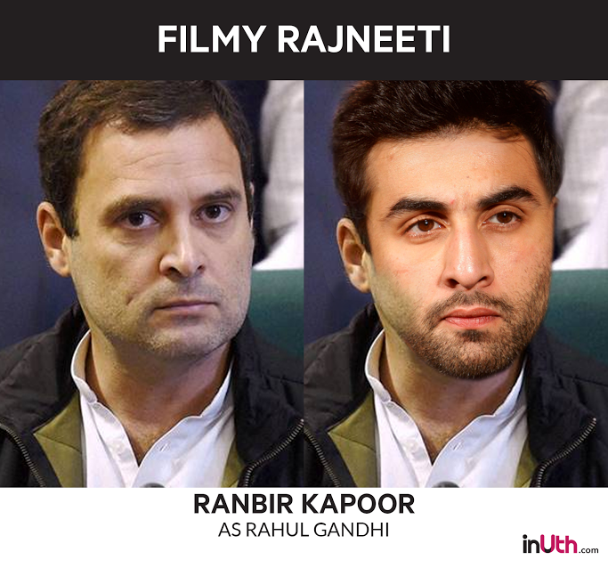 Ranbir Kapoor as Rahul Gandhi