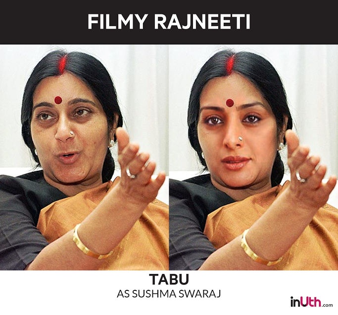 Tabu as Sushma Swaraj