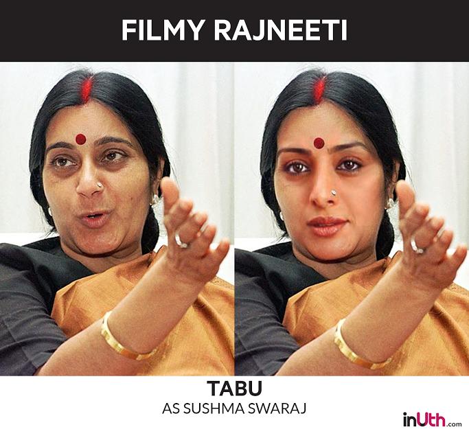 Tabu as Sushma Swaraj