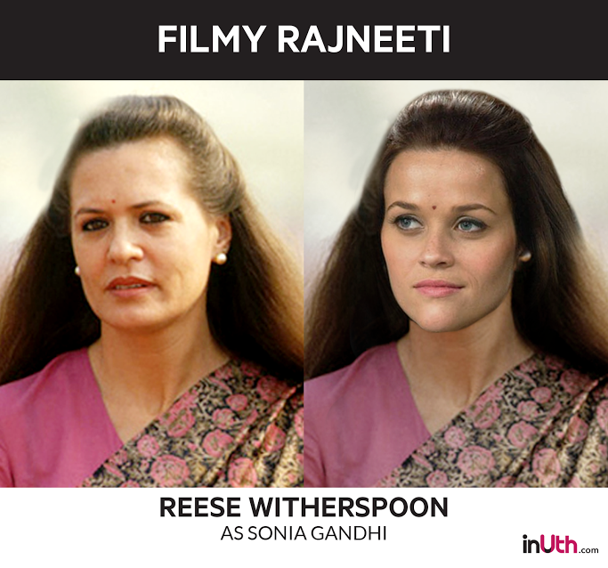 Reese Witherspoon as Sonia Gandhi