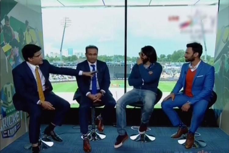Ranveer Singh at Champions Trophy 2017