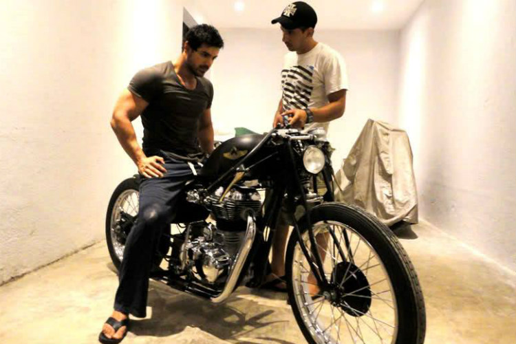 John Abraham and his customised bike