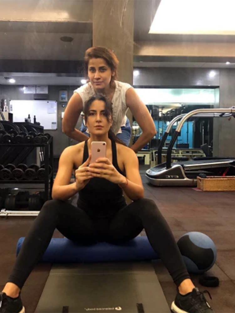 Katrina Kaif's gym photo from her Instagram account