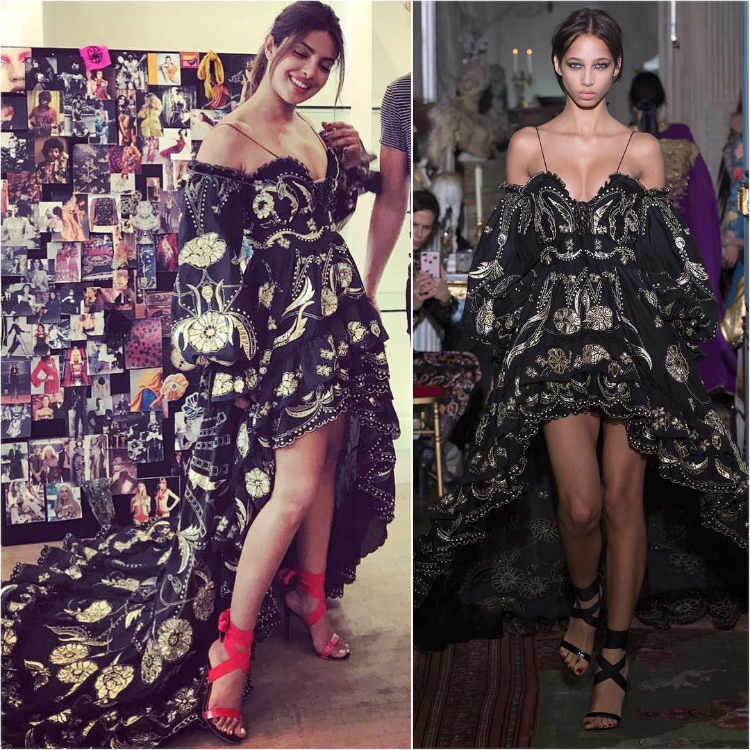 Priyanka Chopra dress from Peter Dundas Resort 2018 collection