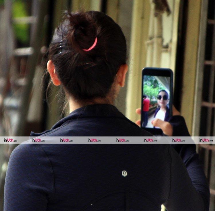 Alia Bhatt recording a selfie video