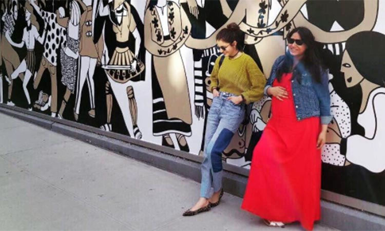 Anushka Sharma with her childhood friend in New York