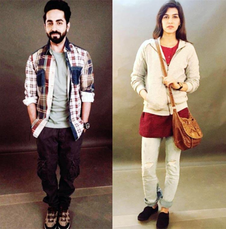 Ayushmann Khurrana, Kriti Sanon's first look test for Bareilly Ki Barfi