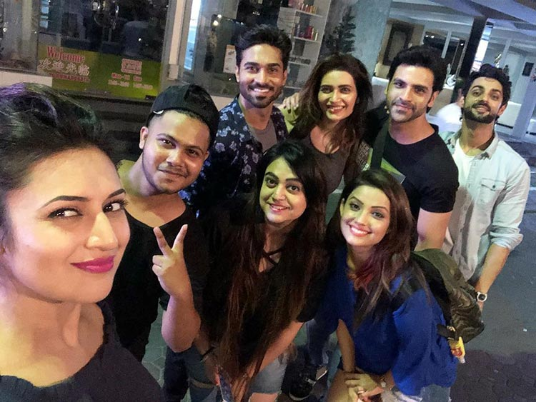 Divyanka Tripathi with her industry friends in Pattaya