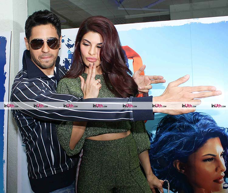 Jacqueline Fernandez and Sidharth Malhotra at A Gentleman trailer preview