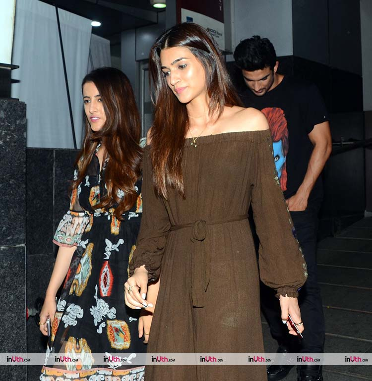 Kriti Sanon spotted on a dinner date with Sushant Singh Rajput