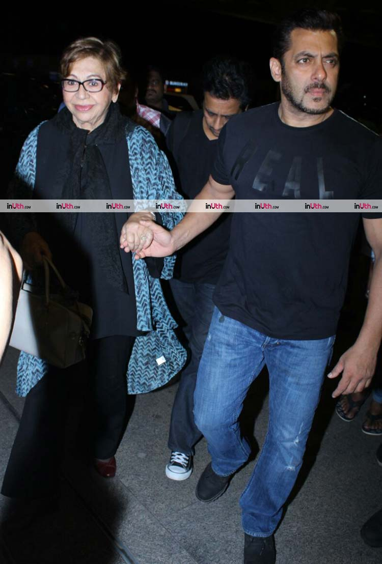 Salman Khan leaves for IIFA 2017 with mother Helen