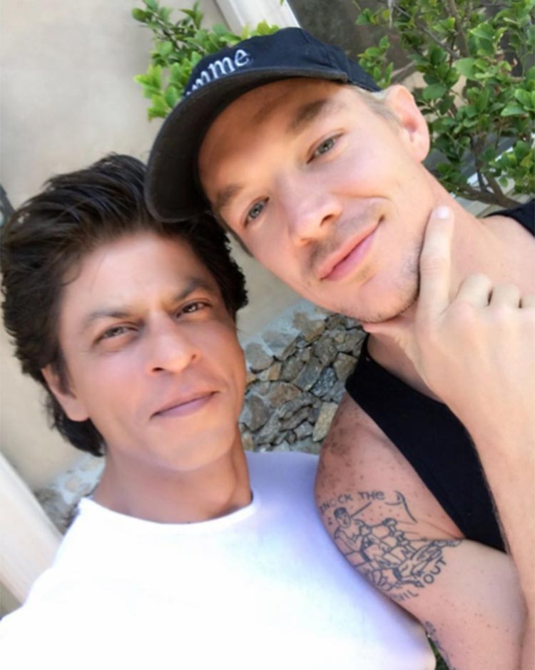Shah Rukh Khan with DJ Diplo
